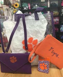 ella lily etc clemson tigers football accessories